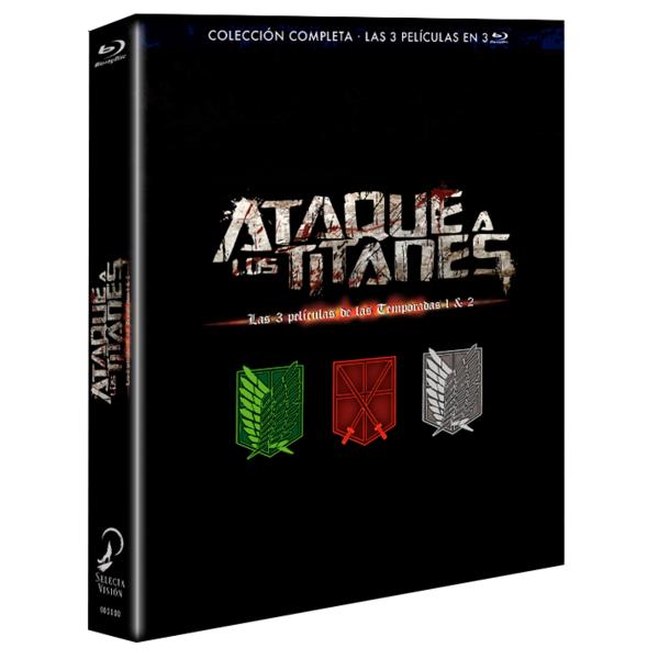 Ataque A Los Titanes Las 3 Películas de Las Temporadas 1 y 2 Bluray