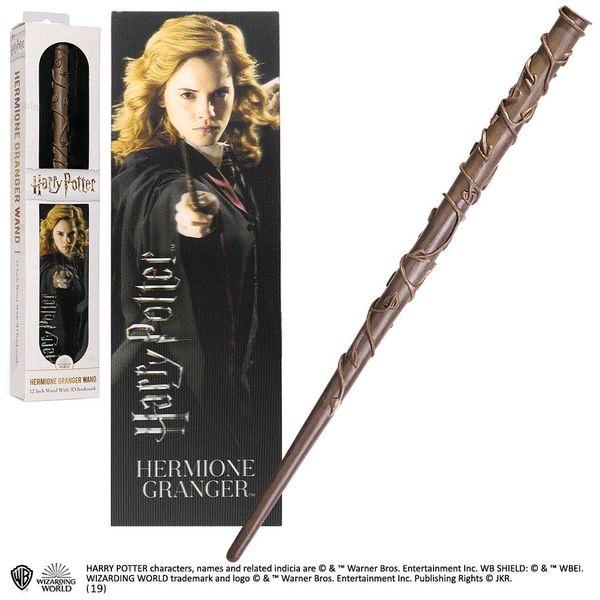 Varita Mágica y Punto de Libro 3D Hermione Granger Harry Potter