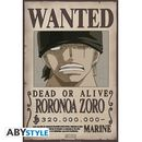 Poster Zoro Wanted One Piece 52 x 35 cms