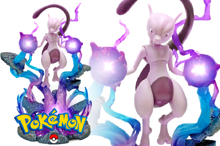 Mewtwo Statue with light