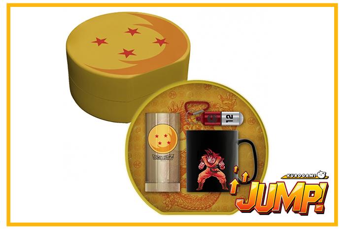 Pack Regalo Llavero 3D, Taza y Vaso Dragon Ball