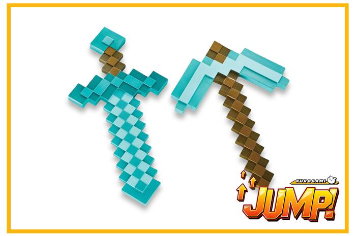 Replica Pico y Espada Diamante Minecraft Set