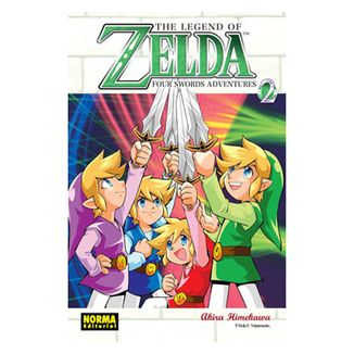The Legend of Zelda Four Swords #02 Manga Oficial Norma Editorial