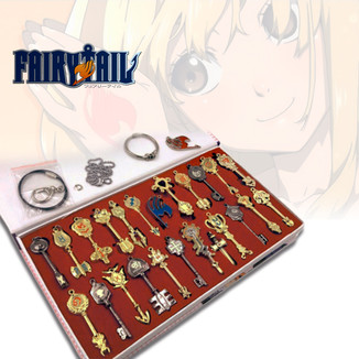 Fairy Tail Set Llaves de Lucy - SET 22 Llaves + EXTRAS!!