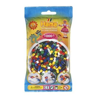 Bolsa de Hama midi mix 6 colores de 1000 piezas Nº 207-66