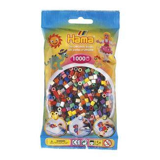 Bolsa de Hama midi mix mezcla de 22 colores de 1000 piezas Nº 207-67