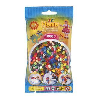 Bolsa de Hama midi mix mezcla de 48 colores de 1000 piezas Nº 207-68