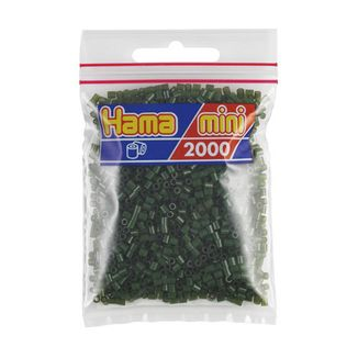 Bolsa de Hama Mini verde oliva de 2000 piezas Nº 501-28