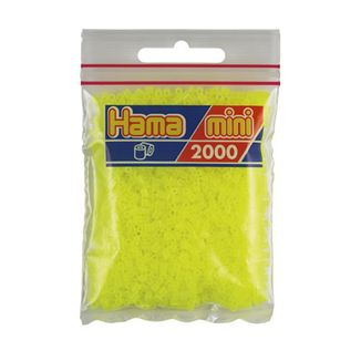 Hama Mini Bag 2000 pieces Fluorescent Yellow No. 501-39