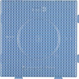 Placa / Pegboard de 15x15 centímetros transparente conectable para Hama midi