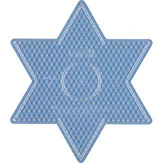 Placa / Pegboard estrella transparente para Hama Midi
