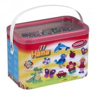 Cubo 10.000 piezas Hama Midi Mix 00 (10 Colores)
