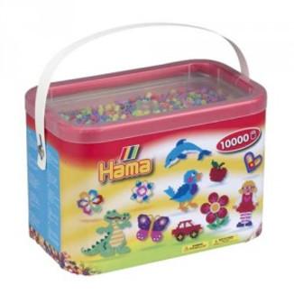 Cubo 10.000 piezas Hama Midi Mix 50 (Pastel)