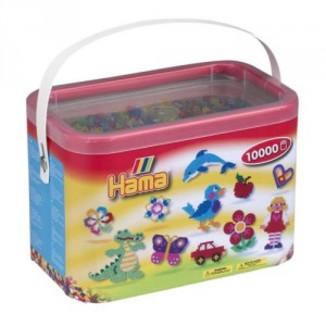 Cubo 10.000 piezas Hama Midi Mix 53 (Colores translucidos)
