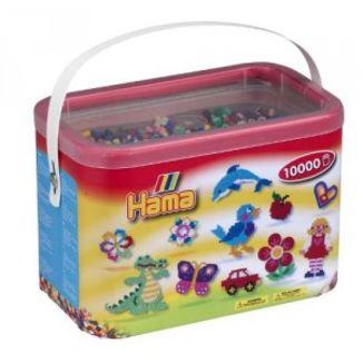 Cubo 10.000 piezas Hama Midi Mix 67 ( 22 Colores)