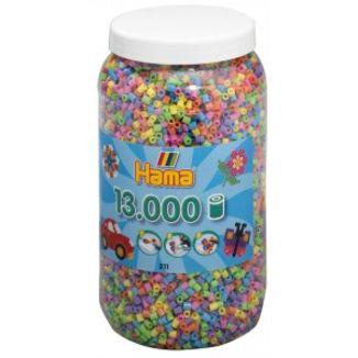 Cubo 13.000 piezas Hama Midi Mix 51 (Pastel)