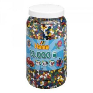 Cubo 13.000 piezas Hama Midi Mix 66 (6 Colores)