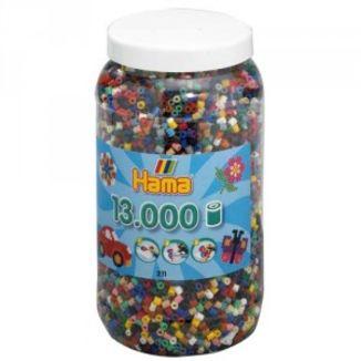 Cubo 13.000 piezas Hama Midi Mix 67 (22 Colores)