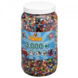 Cubo 13.000 piezas Hama Midi Mix 68 (48 Colores)