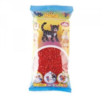 Bolsa de Hama midi rojo de 6000 piezas