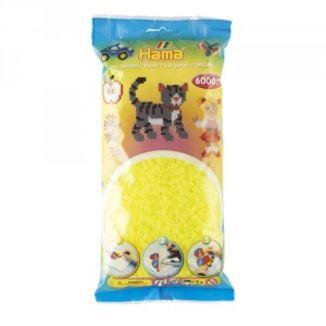 Bolsa de Hama midi amarillo fluorescente de 6000 piezas
