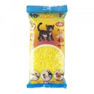 Bolsa de Hama midi amarillo pastel de 6000 piezas