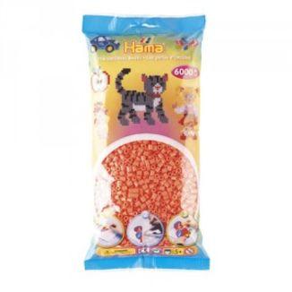 Bolsa de Hama midi rojo pastel / salmón de 6000 piezas