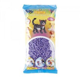 Bolsa de Hama midi violeta pastel de 6000 piezas