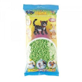 Bolsa de Hama midi verde pastel de 6000 piezas