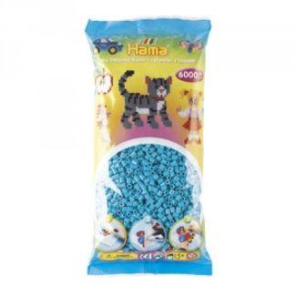 Bolsa de Hama midi azul celeste de 6000 piezas
