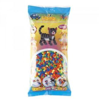 Bolsa de Hama midi mix/mezcla de tonos fluorescentes de 6000 piezas