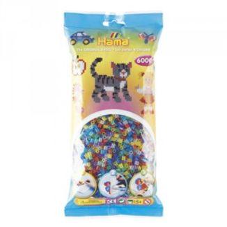 Bolsa de Hama midi mix/mezcla de tonos transparentes con purpurina de 1000 piezas