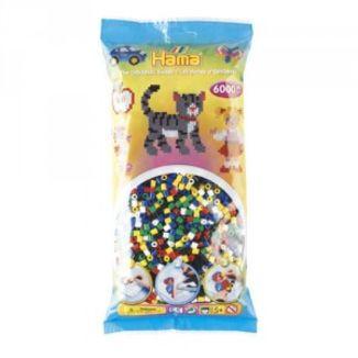 Bolsa de Hama midi mix/mezcla de 6 colores de 6000 piezas