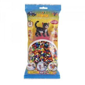 Bolsa de Hama midi mix/mezcla de 48 colores de 6000 piezas