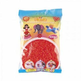 Bolsa de Hama midi rojo neón de 3000 piezas