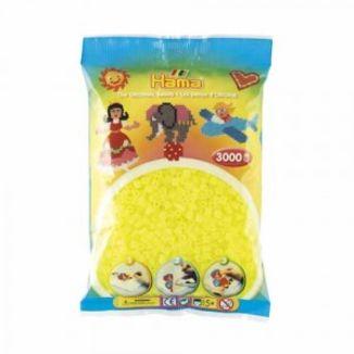 Bolsa de Hama midi amarillo fluorescente de 3000 piezas