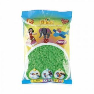 Bolsa de Hama midi verde fluorescente de 3000 piezas