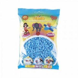 Bolsa de Hama midi azul pastel de 3000 piezas