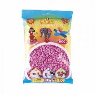 Bolsa de Hama midi rosa pastel de 3000 piezas