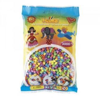 Bolsa de Hama midi mix/mezcla de tonos pastel de 3000 piezas