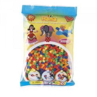 Bolsa de Hama midi mix/mezcla de tonos neón de 3000 piezas