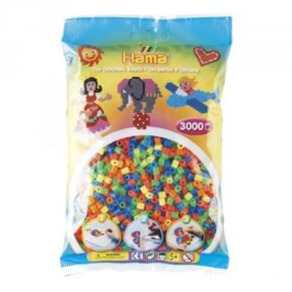 Bolsa de Hama midi mix/mezcla de tonos fluorescentes de 3000 piezas