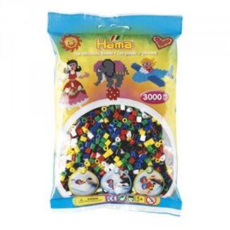 Bolsa de Hama midi mix/mezcla de 6 colores de 3000 piezas