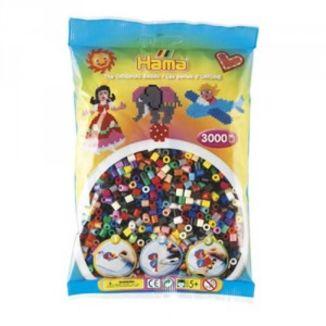 Bolsa de Hama midi mix/mezcla de 22 colores de 3000 piezas