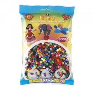 Bolsa de Hama midi mix/mezcla de 48 colores de 3000 piezas