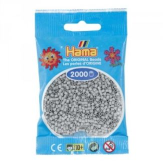 Bolsa de Hama Mini gris claro de 2000 piezas No. 501-70