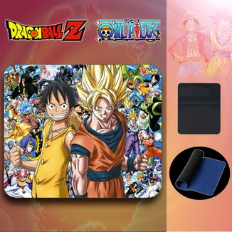 Alfombrilla Ratón Dragon ball vs One Piece