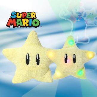 Cojin Estrella Super Mario con luz Nintendo