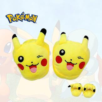 Zapatillas de peluche para niños - Pokemon - Pikachu