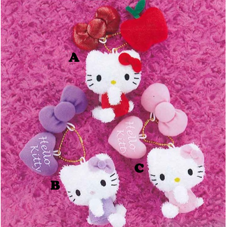 Plush keychain Hello Kitty Hearts Hello Kitty to Issho
